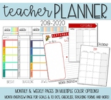 Teacher Lesson Planner with 2017-2018 Monthly Calendar