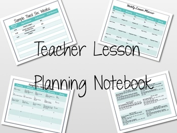 Teacher Lesson Planning Notebook