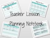 Teacher Lesson Planning Notebook