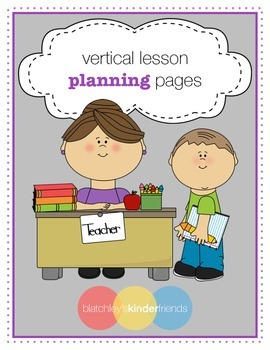 Vertical Lesson Planning Pages