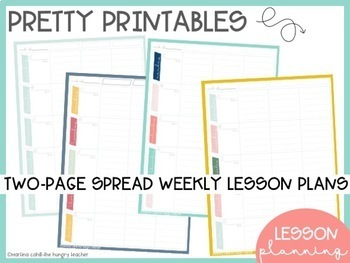Teacher Lesson Planning Printables {Teacher Binder}