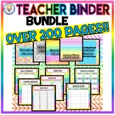Teacher, Lesson Plans, Grade Book, Attendance, Substitute Binder -OVER 200 Pages