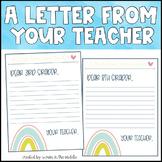 Teacher Letter Template (Distance Learning)
