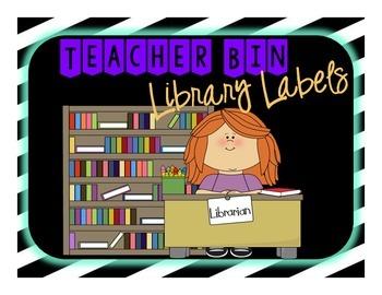 Teacher Library Bin Labels
