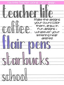 Teacher Life Block Lettering Guide