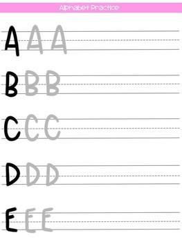 Teacher Life Crayon Lettering Practice Guide