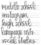 Teacher Life Lettering Practice GROWING BUNDLE