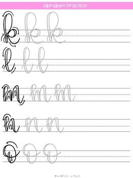 Teacher Life Lettering Practice Guide