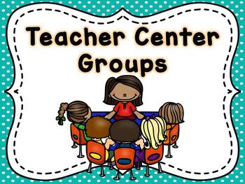 Teacher Literacy Center Rotation Posters