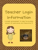 Teacher Login Information