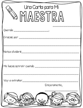 "FREEBIE ""Teacher Love Notes"" Binder Covers & Writing Templates {Spanish}"