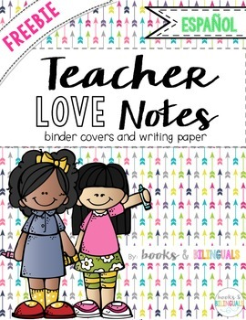 "FREEBIE ""Teacher Love Notes"" Binder Covers & Writing Templ"
