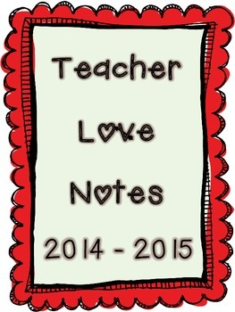 Teacher Love Notes- Create a scrapbook from your little ad