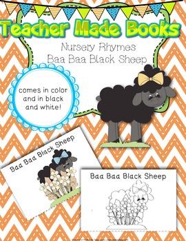 Teacher Made Book on Nursery Rhymes (Baa, Baa, Black Sheep)