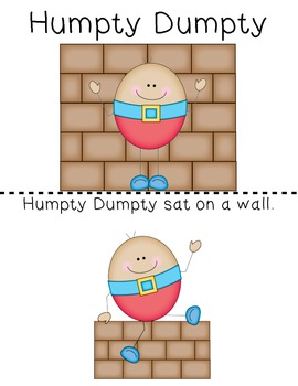 Teacher Made Book on Nursery Rhymes (Humpty Dumpty)