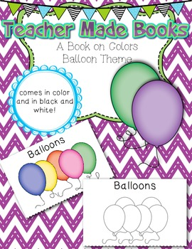 Teacher Made Book on the Colors (Balloons)