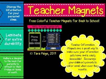 Teacher Magnet Freebie