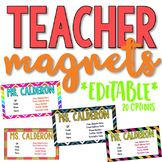 Teacher Contact Cards [Editable Magnets]