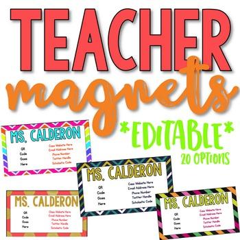Teacher Contact Cards [Editable Magnets]