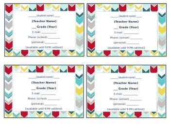 Teacher Magnets (Editable!)