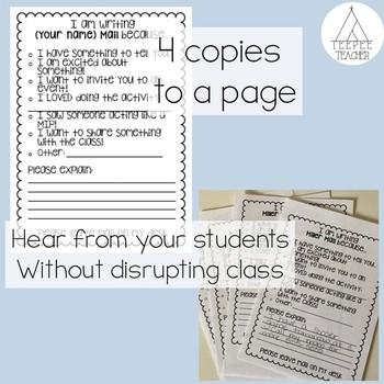 Teacher Mail- editable