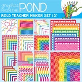 Teacher Maker Set 02 - Bold - Paper and Frames for Teachers