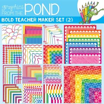 Teacher Maker Set 02 - Bold - Paper and Frames for Teachers