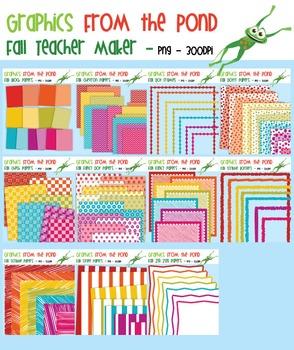 Teacher Maker Set 03 - Fall - Paper and Frames for Teachers