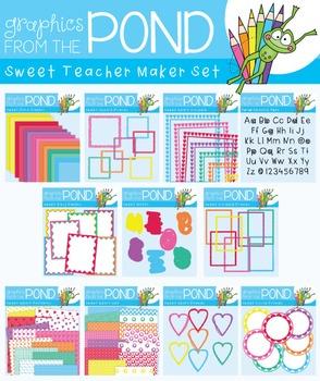 Teacher Maker Set 04 - Sweet Set - Paper and Frames for Teachers