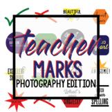 Teacher Marks--PHOTOGRAPHY--clip art