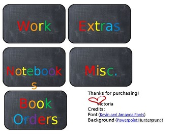 Teacher Material Labels