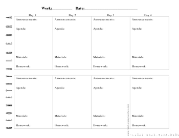 Teacher material--Planner
