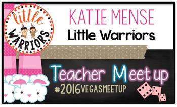 Teacher Meet Up - Vegas 2016 Name Tag