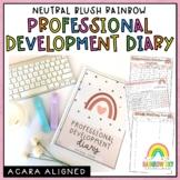 Teacher Meeting Diary | Professional Development Notes | AITSL Aligned Australia