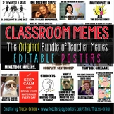 Classroom Memes Posters Editable {Back to School, Class Rules}