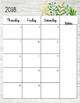 Teacher Monthly Calendar 2018-2019