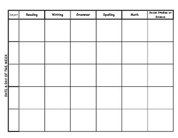 Basic Monthly and Weekly Teacher Calendar Planner 2017-18 (Editable)