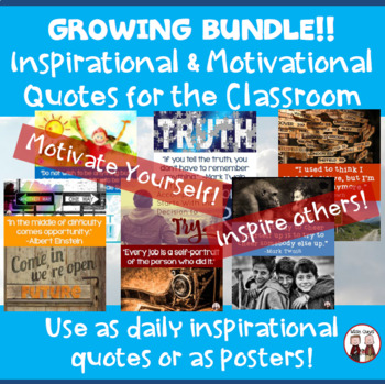 Teacher Morale Inspirational Quotes and Sayings Growing Bundle