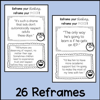 Teacher Morale Thought Reframes