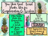 """Teacher Motivation: """"You Did Good!"""" Printables for Complimenting Co-Workers!"""
