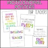 Teacher Motivational Posters
