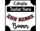 Teacher Name Banner