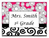 Teacher or Student Name Sign - Editable