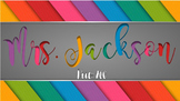 Teacher Name Sign - Bright Colors