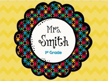 Editable Teacher Name Signs
