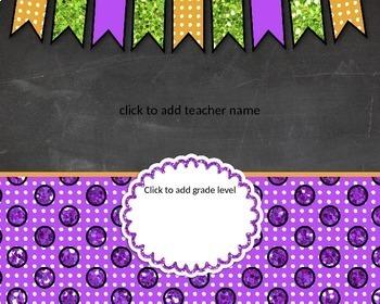 Teacher Name Signs: EDITABLE!