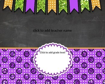 Teacher Name Signs Editable: Chalkboard and Glitter