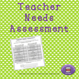 Teacher Needs Assessment for School Counselors