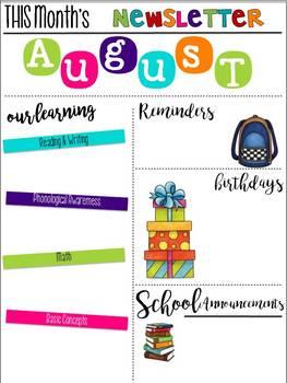 Teacher Editable Newsletters