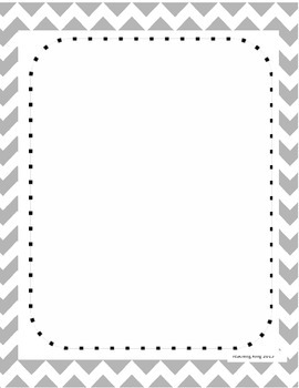 Teacher Newsletter Editable Template Gray Chevron Professional